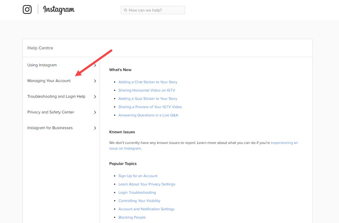 Как удалить страницу в Инстаграме через компьютер в браузере