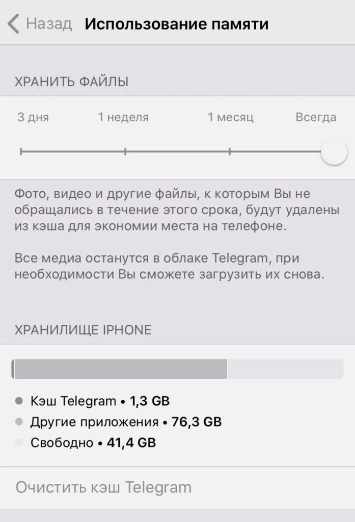 Как очистить кэш в Телеграм на айфоне iOS или iPad