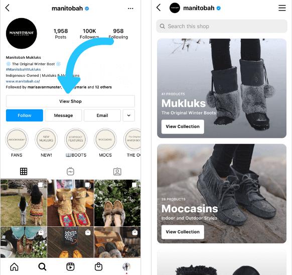 Добавляем ссылку на историю в ваш магазин Instagram.